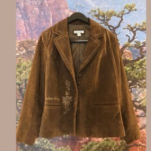Coldwater Creek Suede Leather Jacket Size M